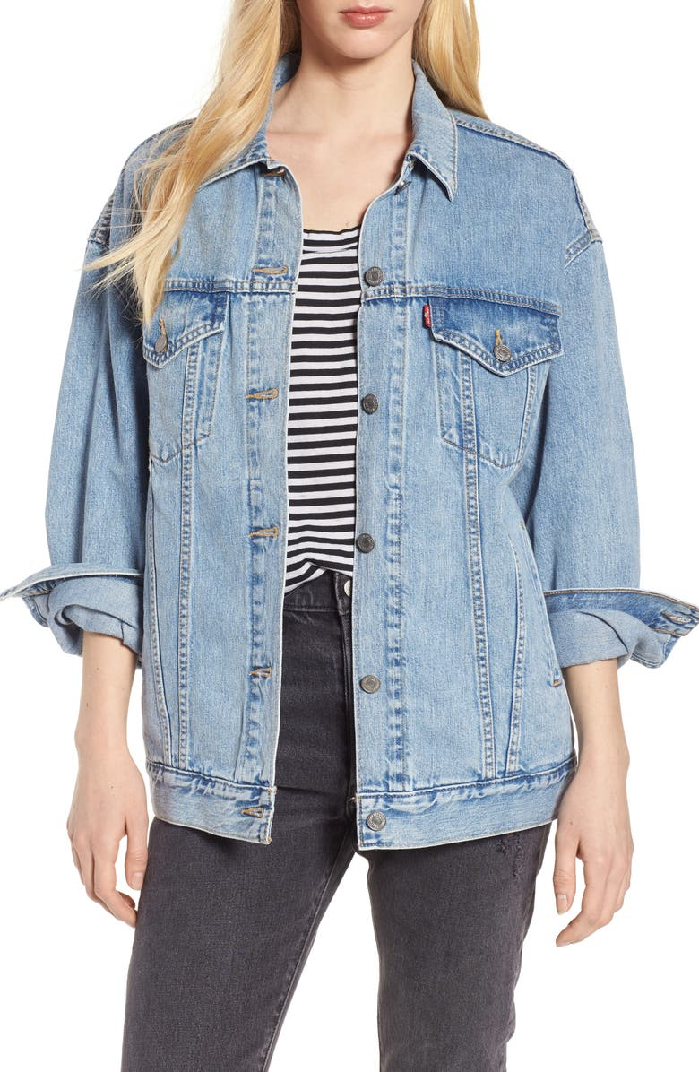 LEVI'S<SUP>®</SUP> Baggy Trucker Denim Jacket, Main, color, 420