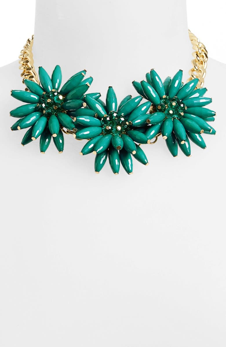 TOPSHOP Spike Flower Necklace, Main, color, 301