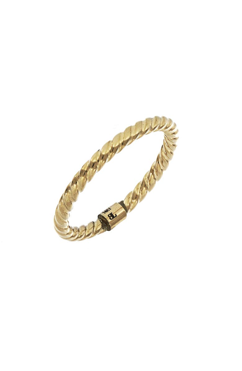 BONY LEVY 14K Gold Textured Stacking Ring, Main, color, YELLOW GOLD