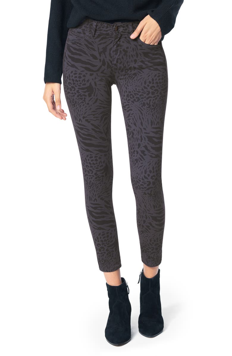 JOE'S The Icon Animal Print Ankle Skinny Jeans, Main, color, EYESHADOW - SAUVAG