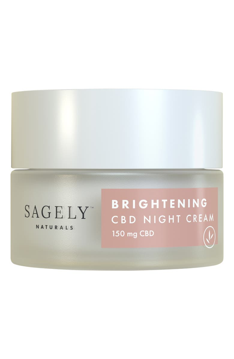 SAGELY NATURALS Brightening CBD Night Cream, Main, color, No Color
