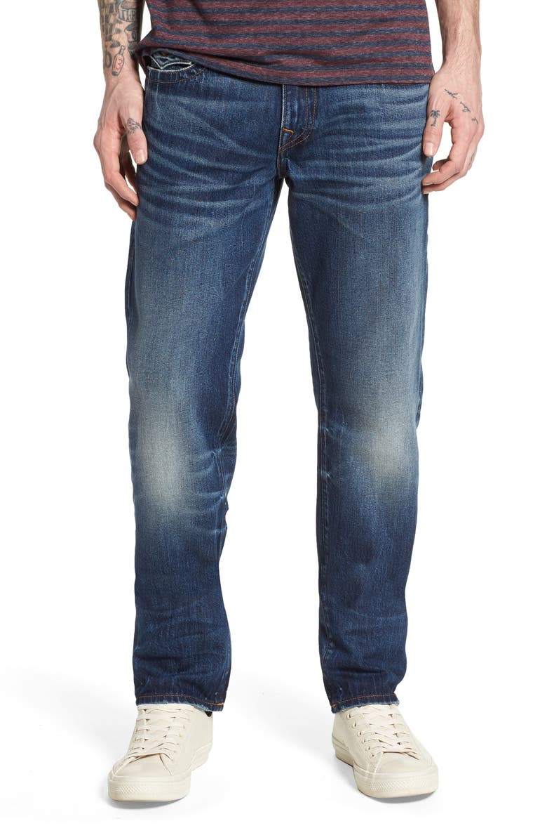 TRUE RELIGION BRAND JEANS Geno Straight Leg Jeans, Main, color, EQSD DARK AFTER HOURS