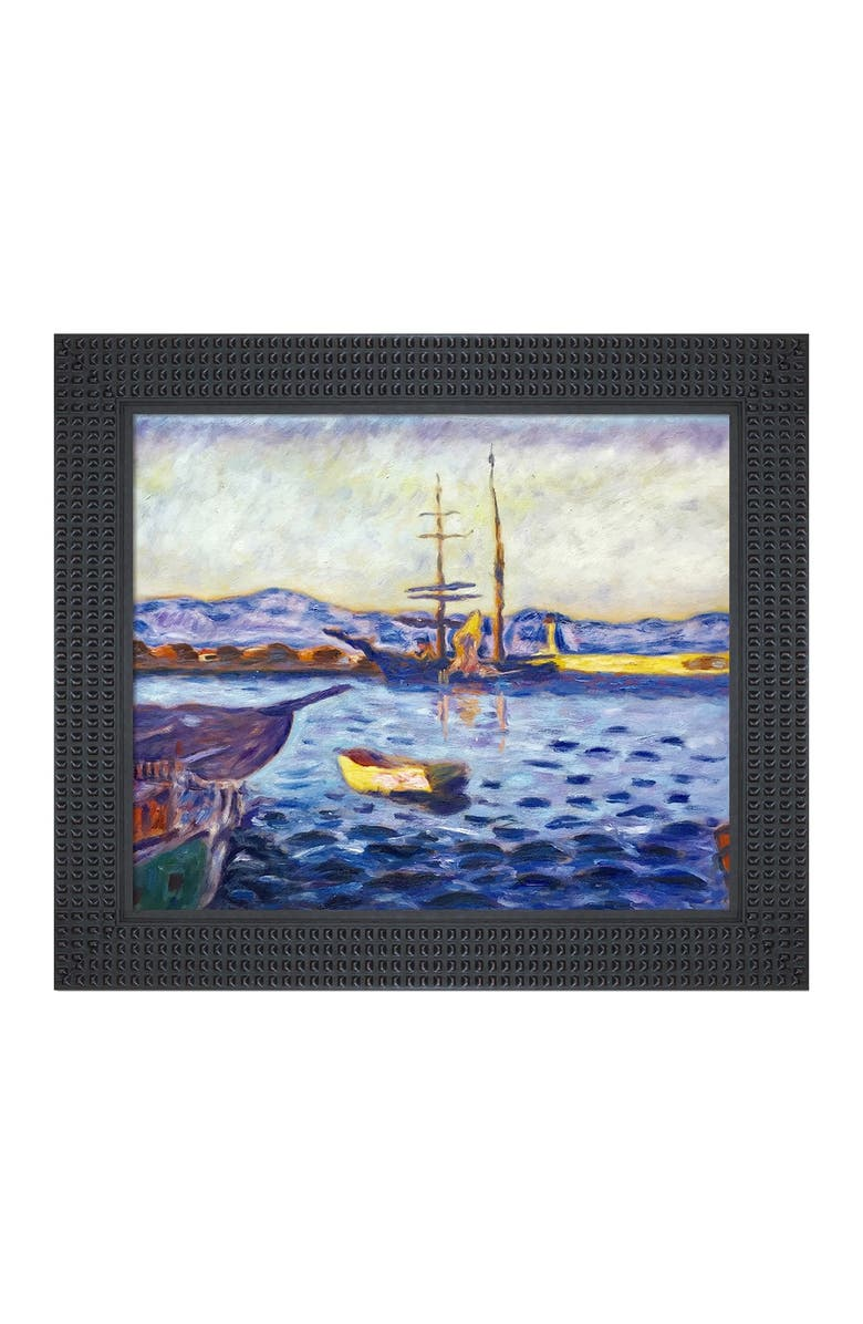 OVERSTOCK ART The Port of Saint-Tropez - Framed Oil Reproduction of an Original Painting by Pierre Bonnard, Main, color, MULTI