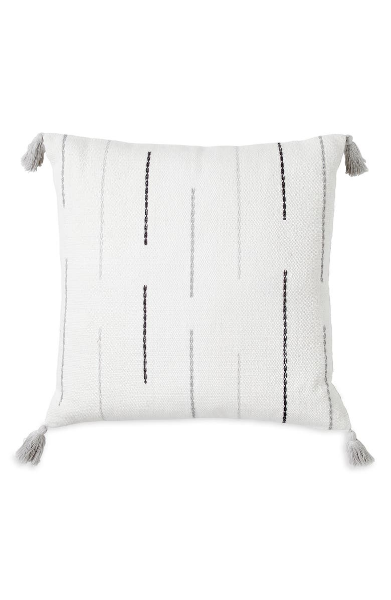 WELLBE Echo Scented Embroidered Accent Pillow, Main, color, GREY