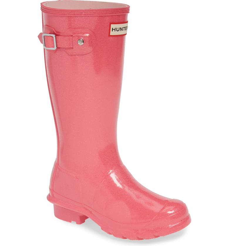 HUNTER Starcloud Glitter Rain Boot, Main, color, ARCADE PINK