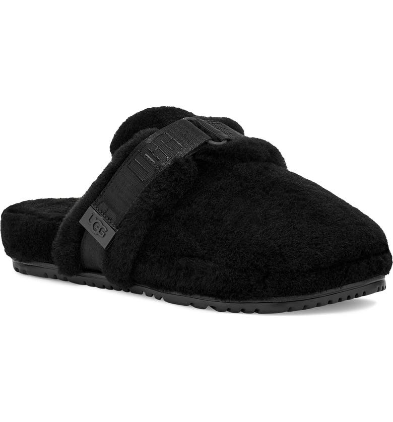 UGG<SUP>®</SUP> Fluff It Slipper with Genuine Shearling Lining, Main, color, BLACK