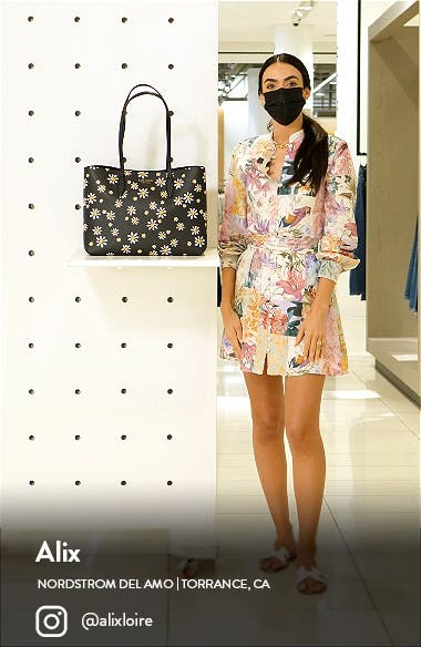 kate spade all day daisy large tote, sales video thumbnail