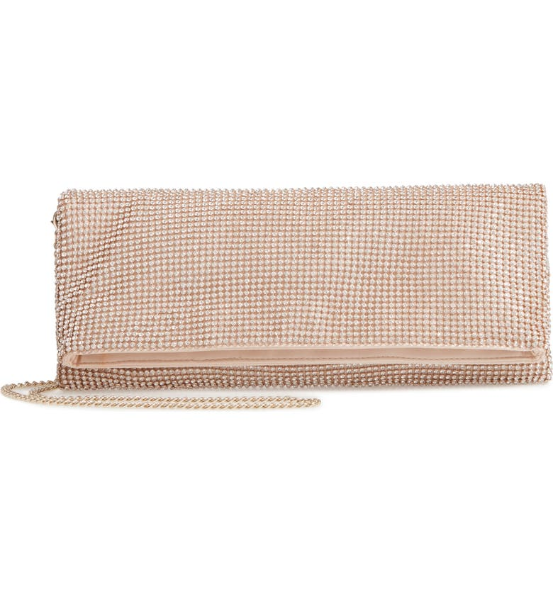 NORDSTROM Crystal Mesh Foldover Clutch, Main, color, 710