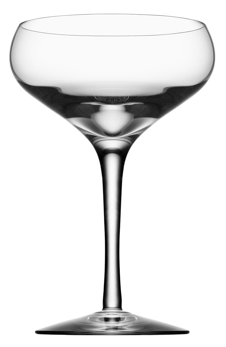 ORREFORS More Set of 4 Lead Crystal Coupe Cocktail Glasses, Main, color, 100