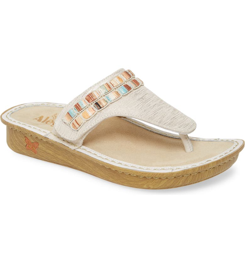 ALEGRIA BY PG LITE Alegria 'Vanessa' Thong Sandal, Main, color, SOIREE GOLD LEATHER