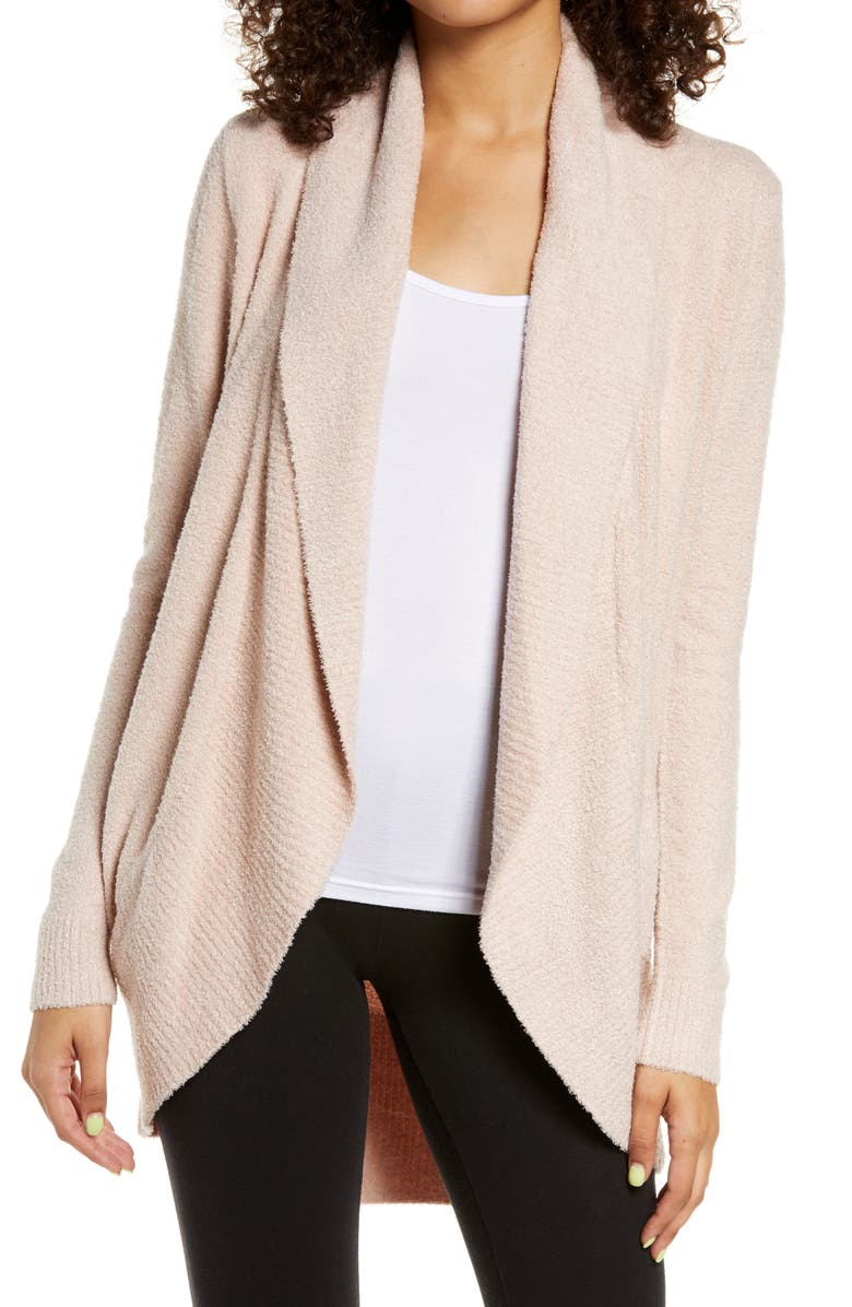 BAREFOOT DREAMS<SUP>®</SUP> CozyChic Lite<sup>®</sup> Circle Cardigan, Main, color, DUSTY MAUVE