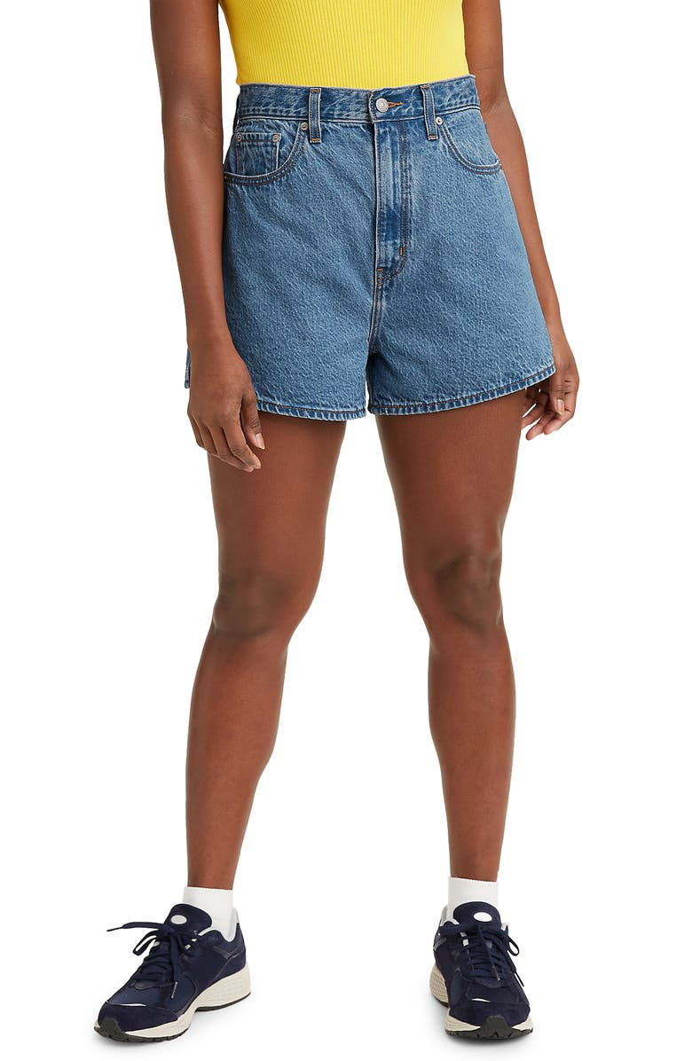LEVI'S<SUP>®</SUP> Super High Waist Loose Denim Shorts, Main, color, NUMBER ONE