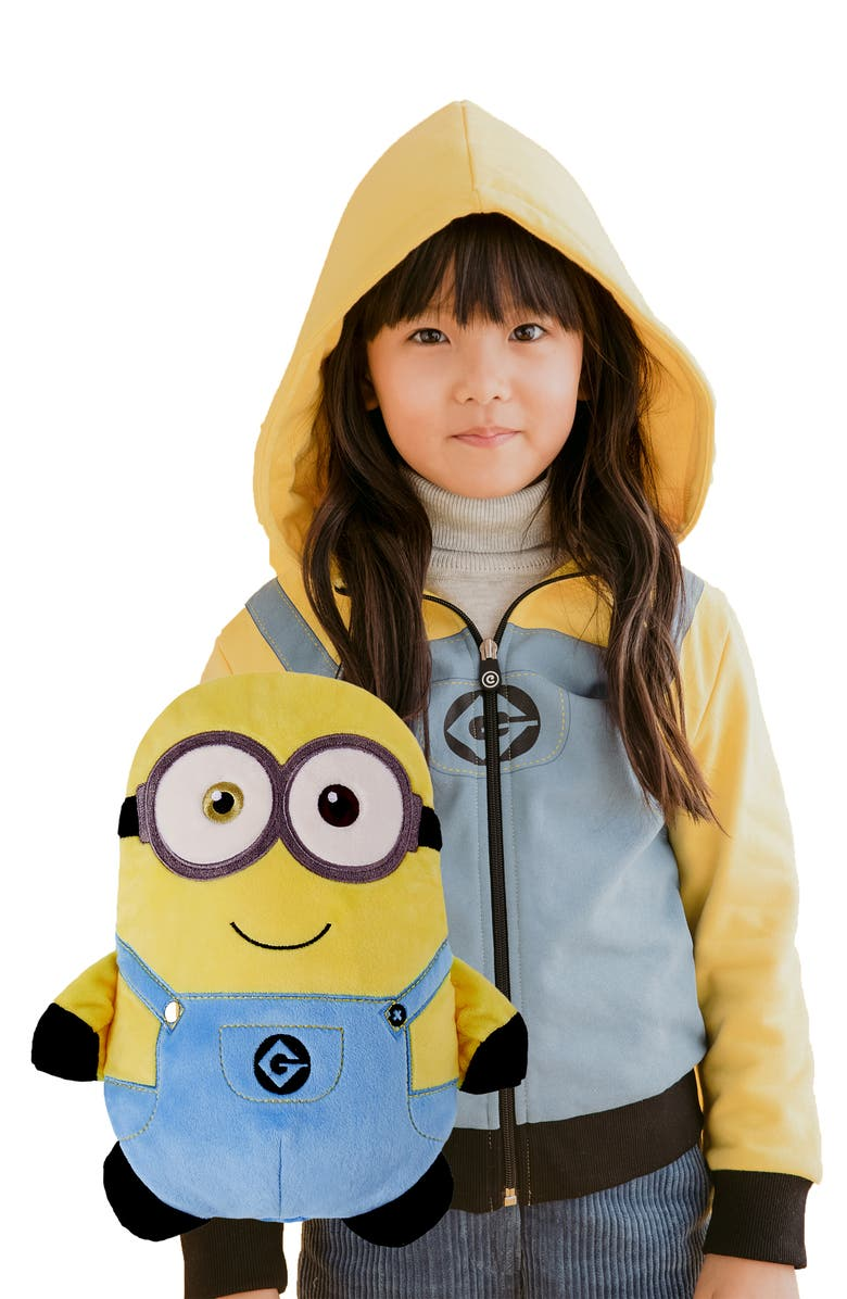 CUBCOATS Minion Bob<sup>®</sup> 2-in-1 Stuffed Animal Hoodie, Main, color, YELLOW