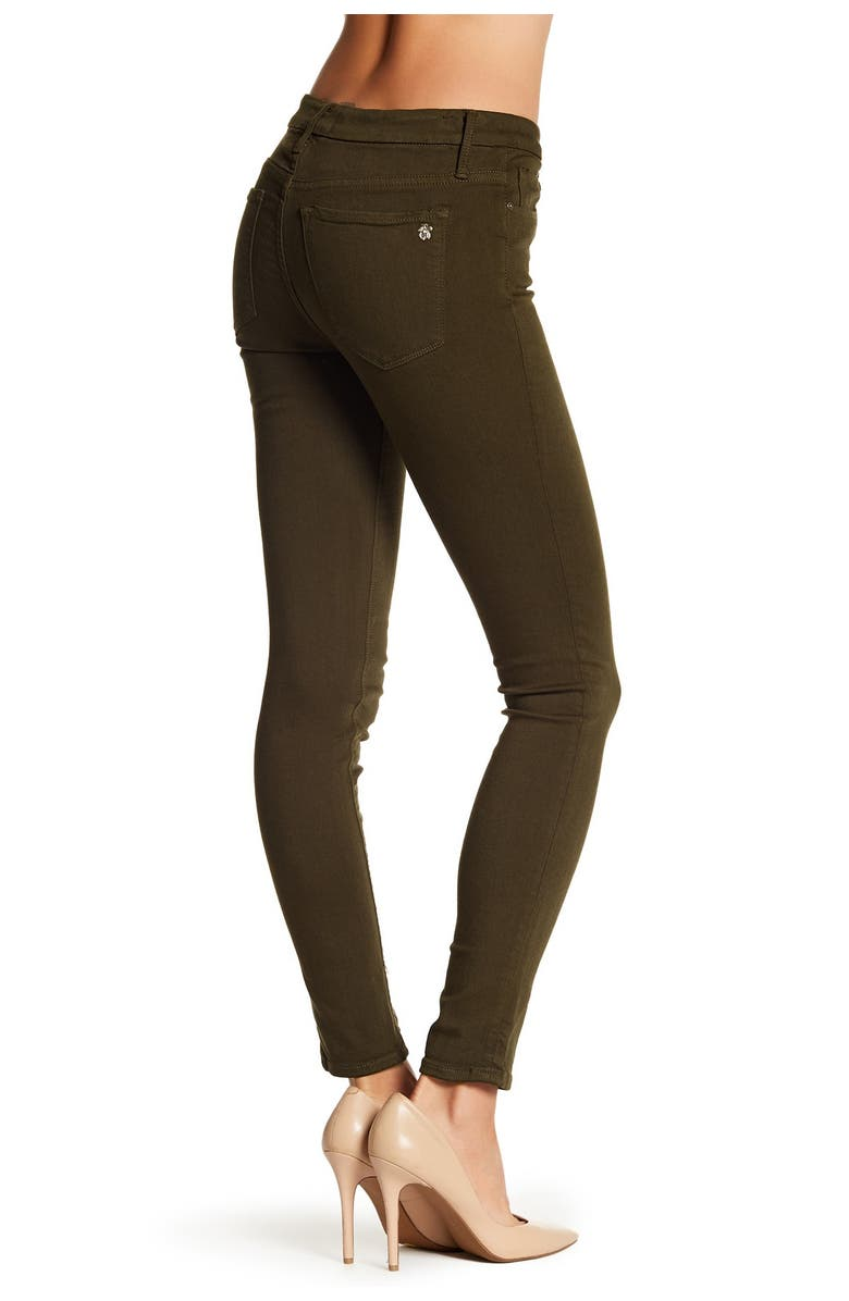 BLACK ORCHID Spring Hues Button Skinny Jeans, Main, color, WICKED