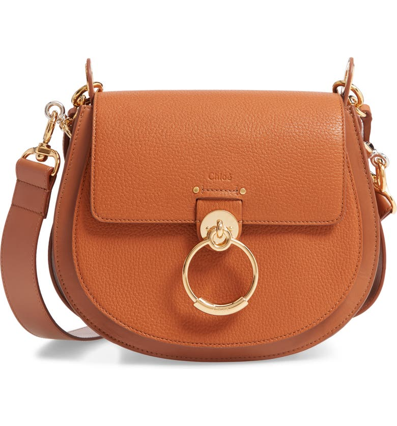 CHLOÉ Large Tess Grained Lambskin Leather Shoulder Bag, Main, color, 210
