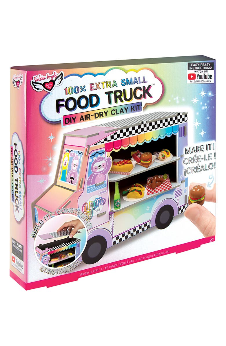 FASHION ANGELS 100% Extra Small Food Truck DIY Clay Kit, Main, color, Pink