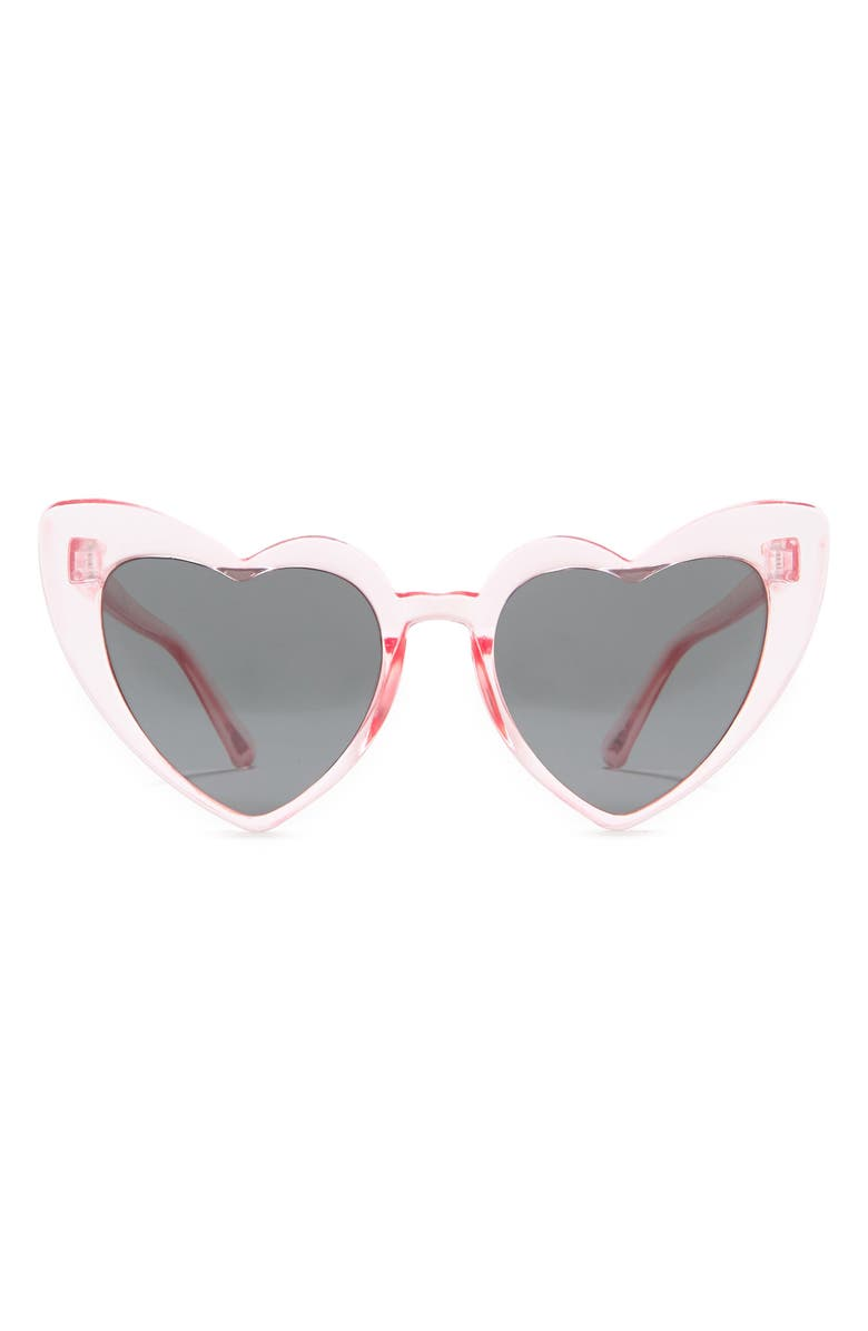 CAPELLI NEW YORK 45mm Heart Sunglasses with Rainbow Carrying Case, Main, color, MULTI