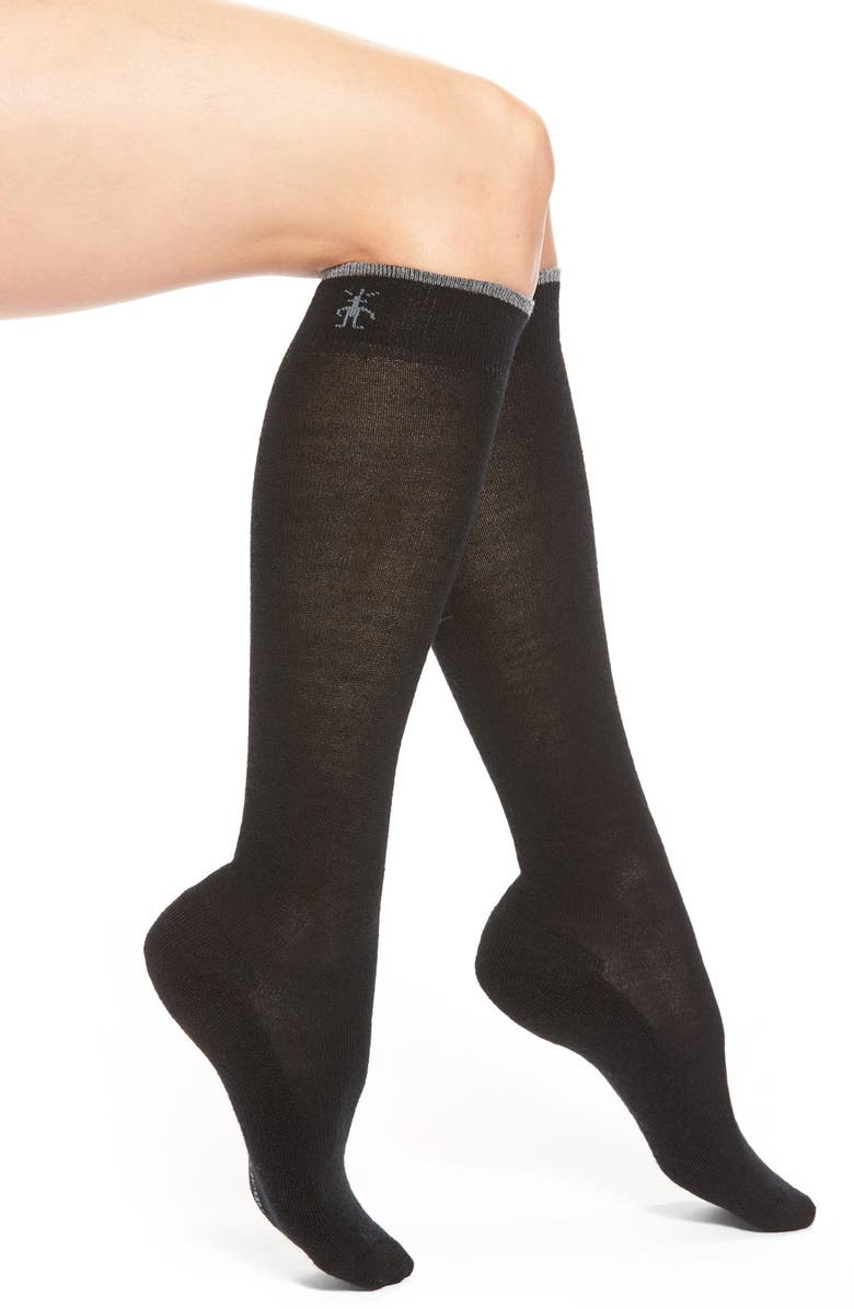 SMARTWOOL Merino Wool Blend Knee High Socks, Main, color, BLACK