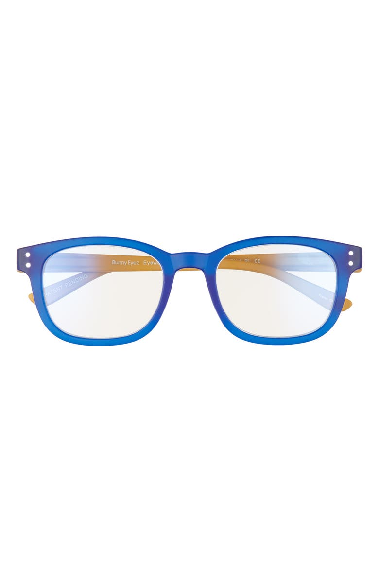 BUNNY EYEZ The Kaley 49mm Blue Light Blocking Tiltable Square Reading Glasses, Main, color, 400