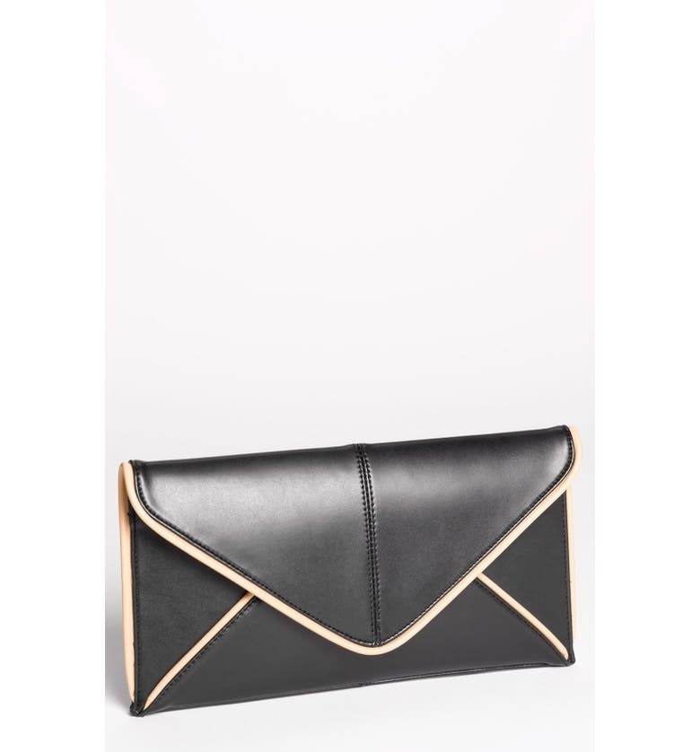 EXPRESSIONS NYC Faux Leather Envelope Clutch, Main, color, 019