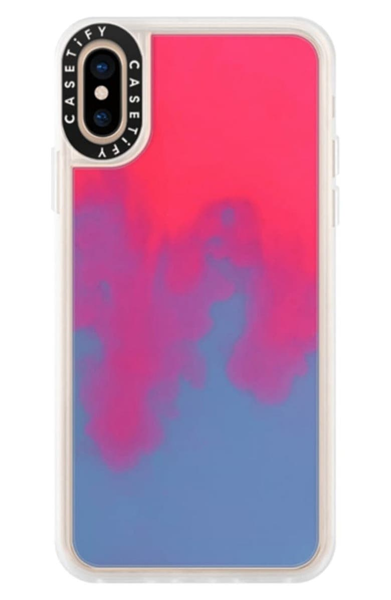 CASETIFY Neon Sand iPhone XS/XR Case, Main, color, HOTLINE