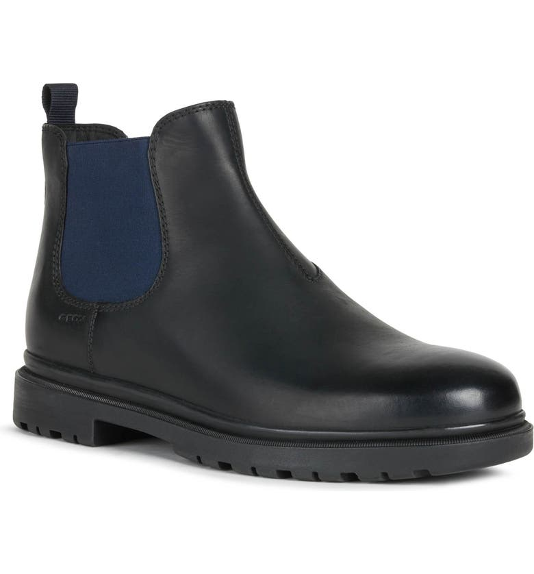 GEOX Andalo 1 Chelsea Boot, Main, color, BLACK/ NAVY