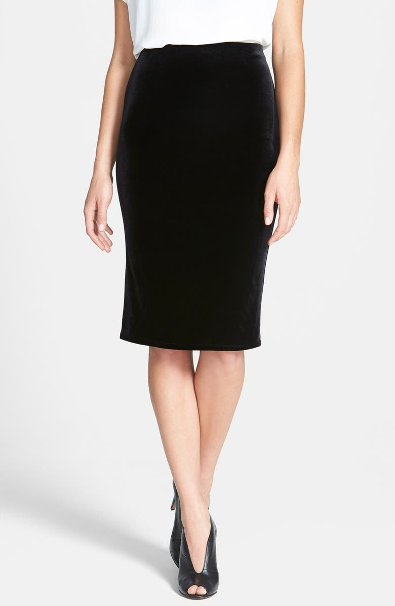 VINCE CAMUTO Stretch Velvet Tube Skirt, Main, color, 006