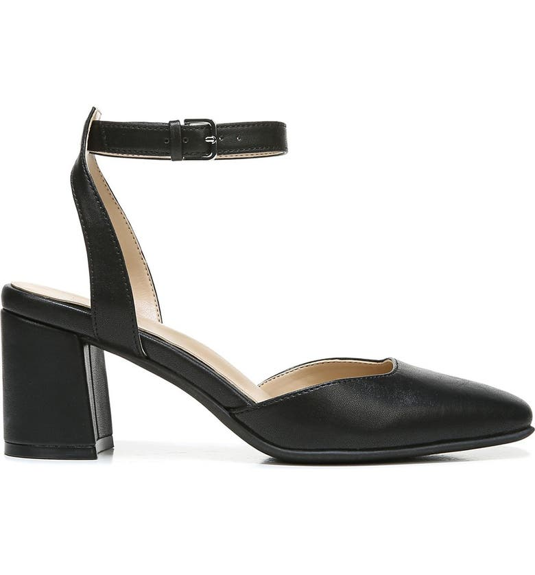 NATURALIZER Winslet Block Heel - Wide Width Available, Main, color, BLACK SMOOTH