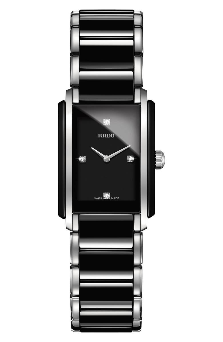 RADO Integral Diamonds Bracelet Watch, 22mm x 33mm, Main, color, 040