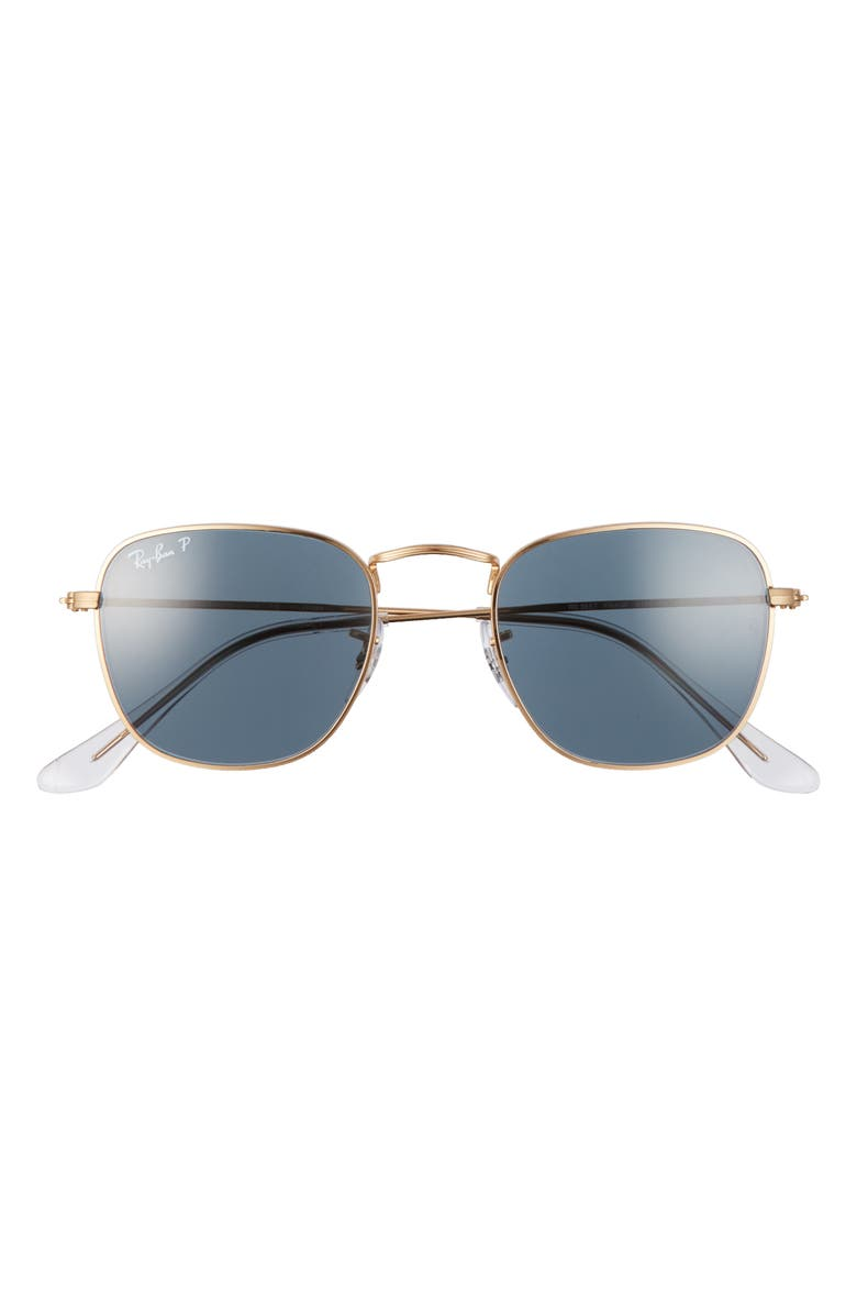 RAY-BAN Frank 48mm Polarized Square Sunglasses, Main, color, LEGEND GOLD/ BLUE