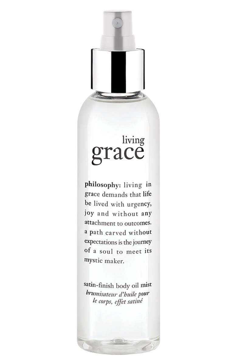 PHILOSOPHY 'living grace' satin finish body oil mist, Main, color, 000