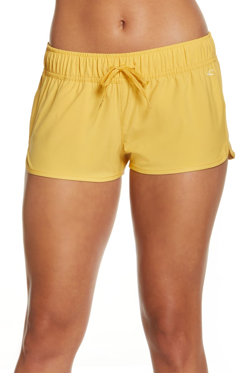 O'NEILL Laney Stretch Tie Waist Board Shorts, Main, color, MIMOSA