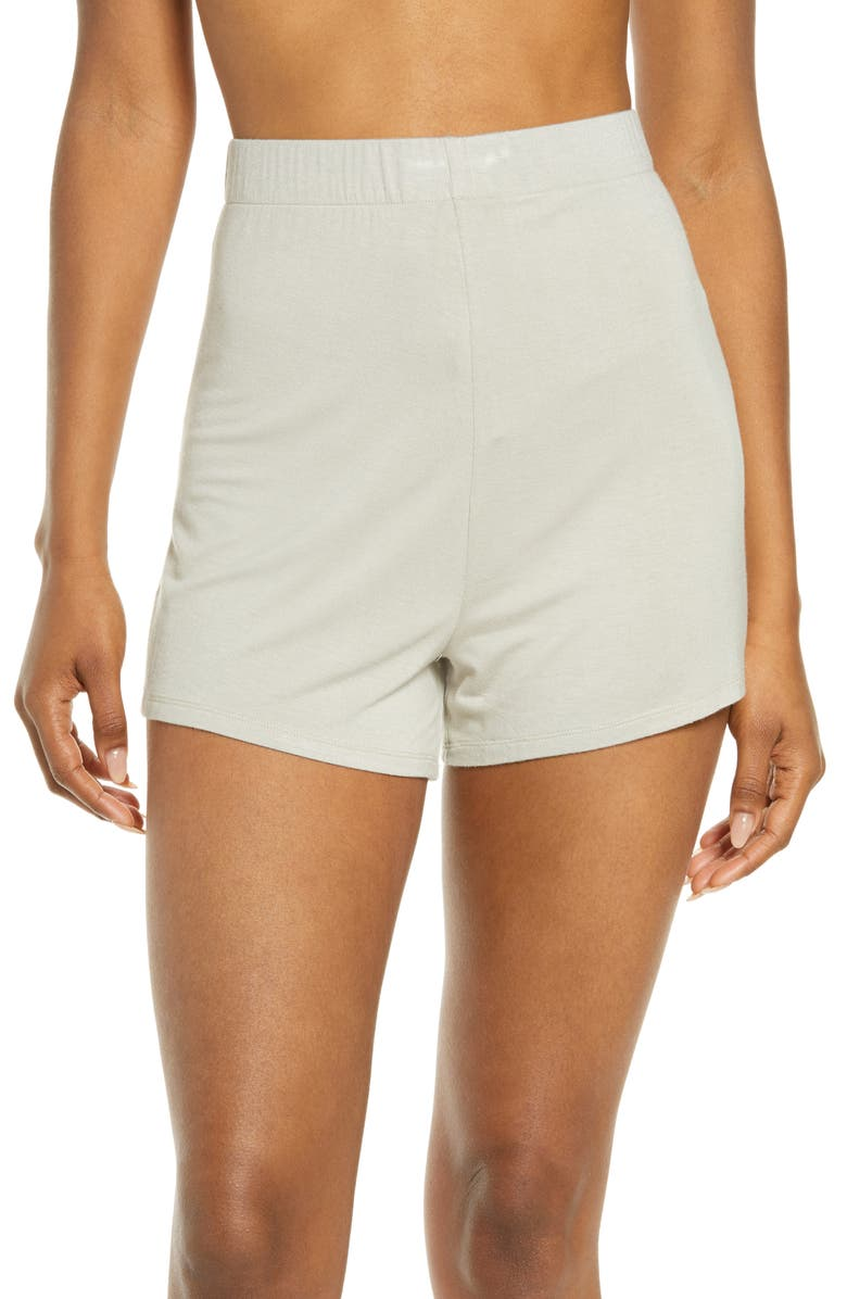 SKIMS Sleep Shorts, Main, color, TALC