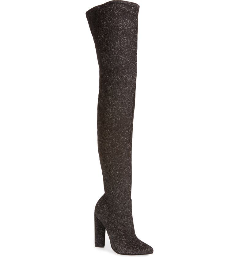 STEVE MADDEN Crystals Over the Knee Boot, Main, color, 020
