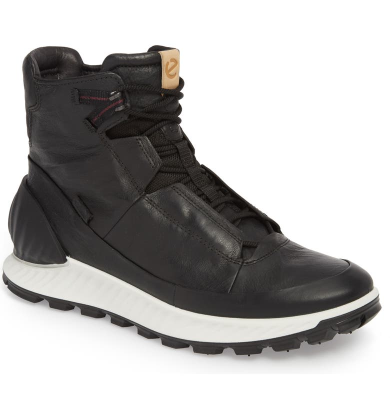 ECCO Limited Edition Exostrike Dyneema Sneaker Boot, Main, color, BLACK LEATHER