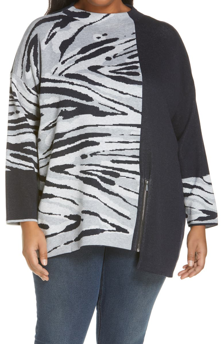 NIC+ZOE Women's Tahoe Zip Sweater, Main, color, 001