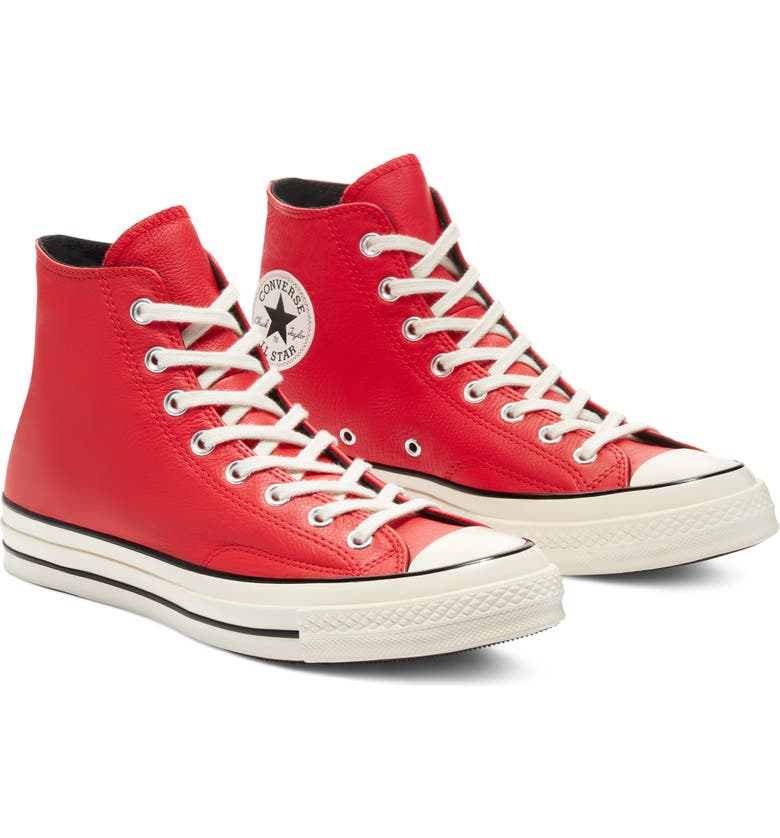 CONVERSE Chuck Taylor<sup>®</sup> All Star<sup>®</sup> 70 High Top Sneaker, Main, color, UNIVERSITY RED/ EGRET/ BLACK