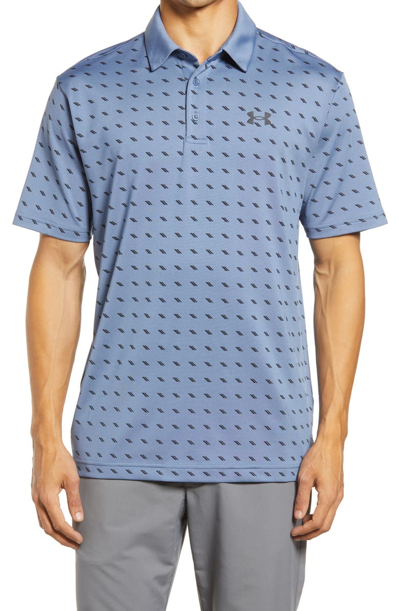 UNDER ARMOUR Playoff 2.0 Loose Fit Polo, Main, color, MINERAL / BLUE / BLACK