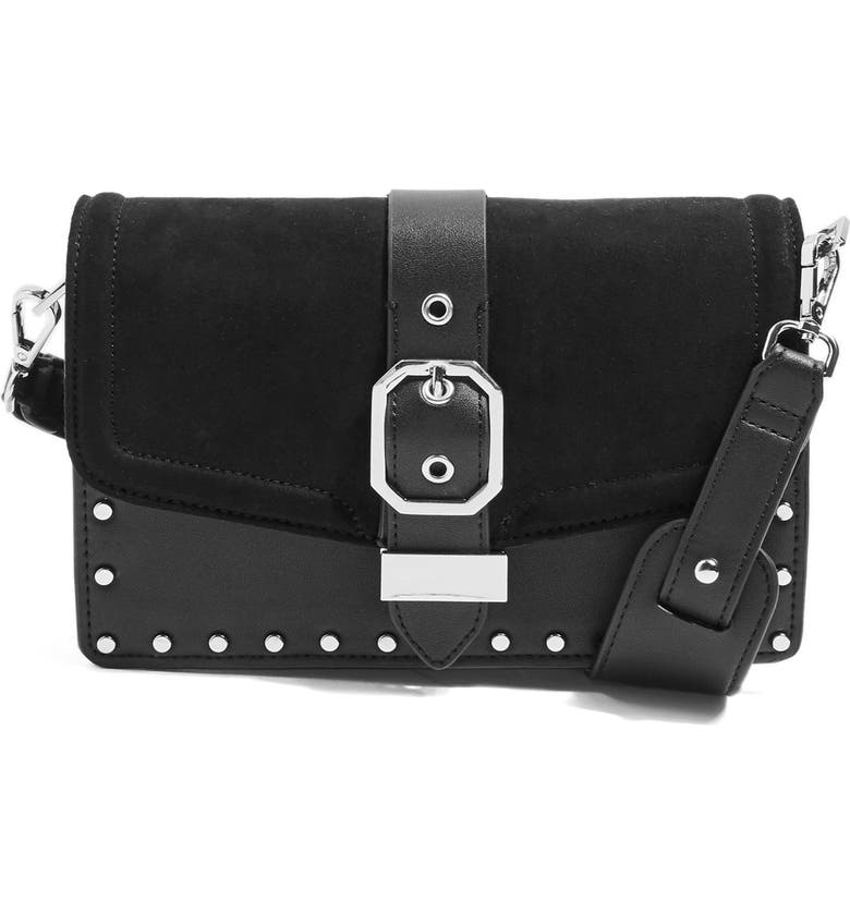 TOPSHOP Megan Buckle Crossbody Bag, Main, color, 001