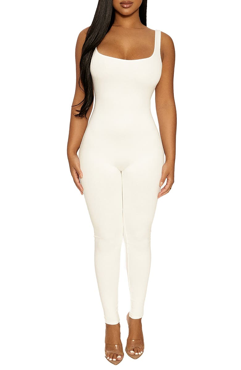 NAKED WARDROBE The NW Jumpsuit, Main, color, OFF WHITE
