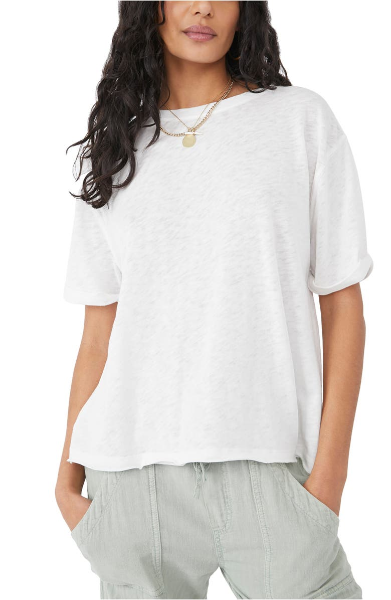 FREE PEOPLE Cassidy Tee, Main, color, WHITE