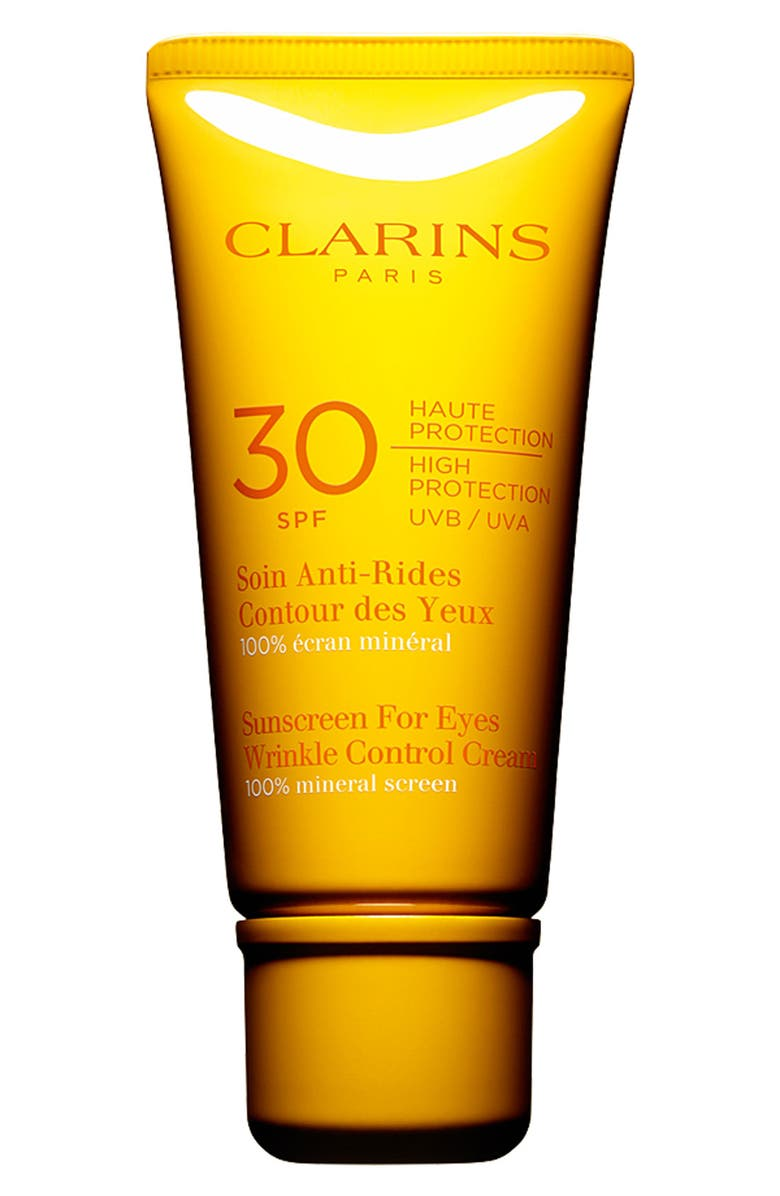 CLARINS Sunscreen for Eyes Wrinkle Control Cream SPF 30, Main, color, No Color