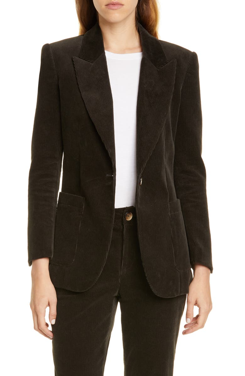 TRAVE Eleanor Slim Corduroy Jacket, Main, color, 400