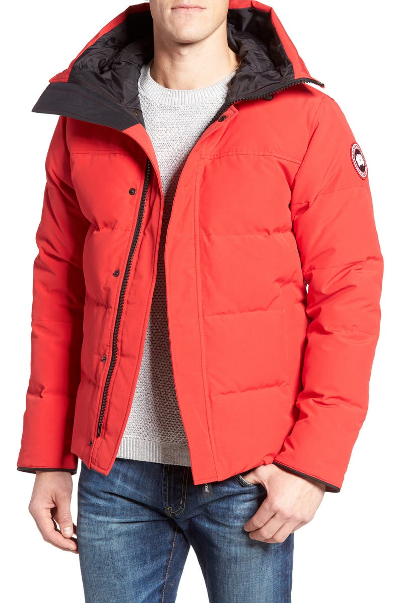 CANADA GOOSE 'MacMillan' Slim Fit Hooded Parka, Main, color, RED