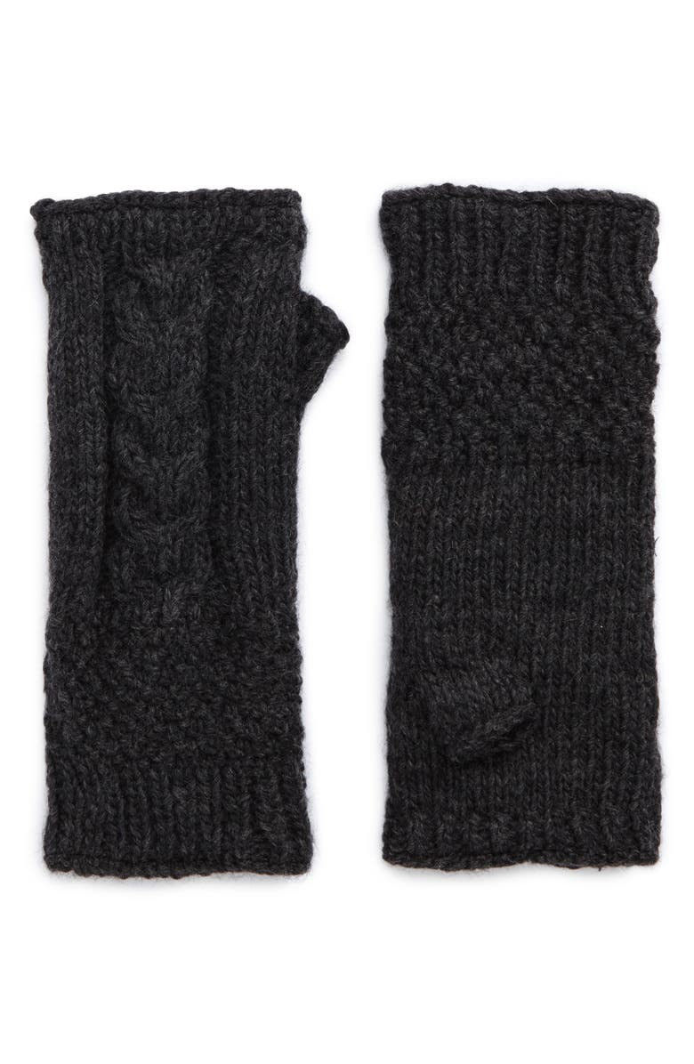 NIRVANNA DESIGNS Nirvanna Designs Cable Knit Hand Warmers, Main, color, 021