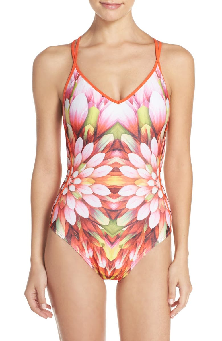 ROBIN PICCONE 'Arianna' One-Piece Swimsuit, Main, color, Pink