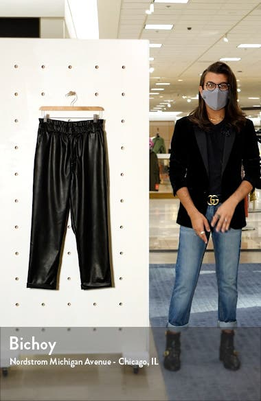 Faux Leather Relaxed Trousers, sales video thumbnail
