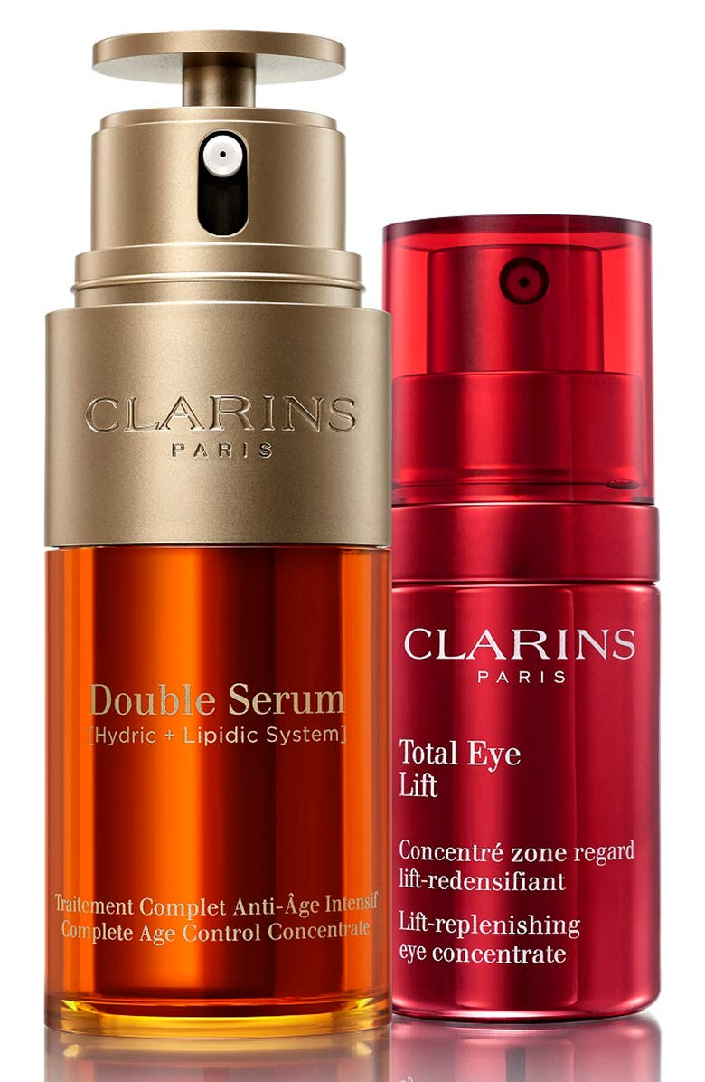 CLARINS Face & Eye Wonders Full Size Age Defense Set, Main, color, No Color