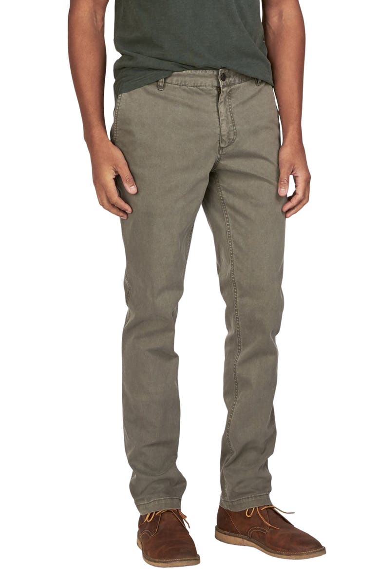FAHERTY BRAND Stretch Canvas Trousers, Main, color, ASH