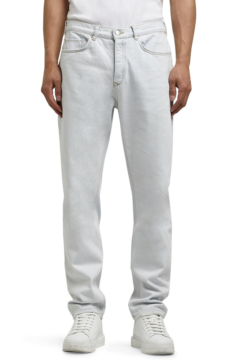 RIVER ISLAND Relaxed Fit Jeans, Main, color, BLUE - LIGHT